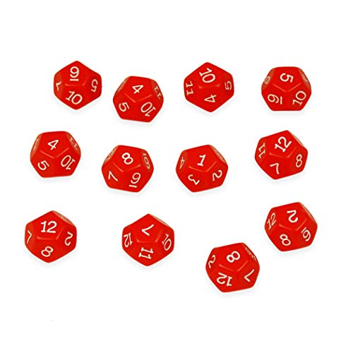 Learning Advantage CTU7341BN 12-Sided Polyhedra Dice, 12 Per Pack, 4 Packs
