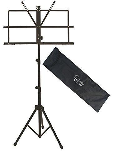 CG Notenständer / Notenpult in Schwarz mit Tasche - stabil robust transportabel