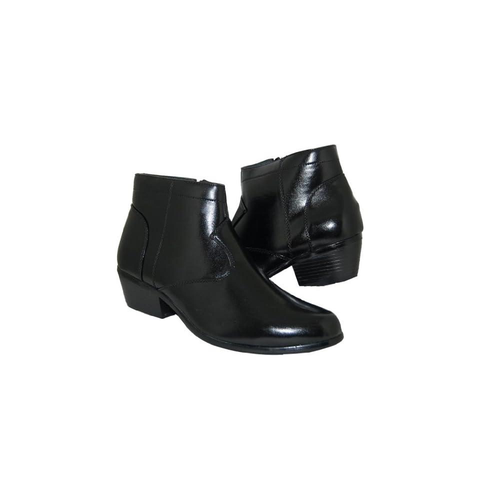 Gorgeous 2 Inch Cuban Heel Men Shoes, Black, Size, 6