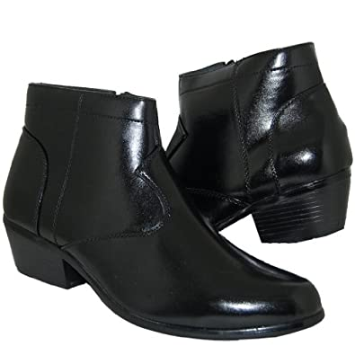 retro style 2 inch cuban heel boots chelsea