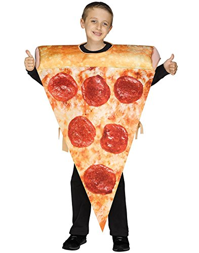 Fun World 110232 Photo Real Pizza Tunic Costume , Multicolor -