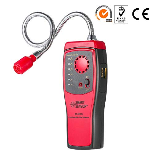 SGILE Gas Detector, Portable Natural Propane Leak Detector Sensor, Combustible Gas Sniffer with Sound Warning, Adjustable Sensitivity and Flex Probe