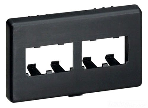 - Panduit CFFPHM4BL Snap-On 4-Port Modular Furniture Faceplate, Black