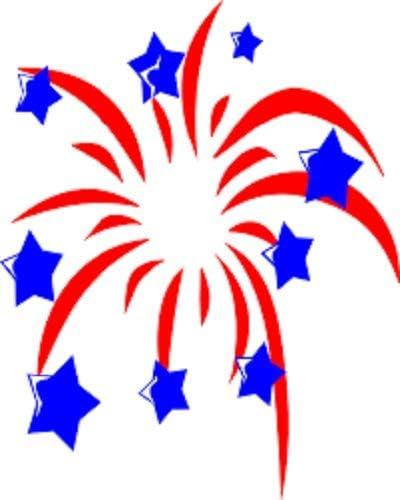 HotSaleStore Sticker Seals 48 Patriotic USA Fireworks Sticker Label Envelope Seals 1.2 Round