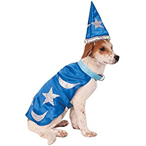 Rubies Costume Wizard Cape with Headpiece and Light-Up Collar Pet Costume, XX-Large