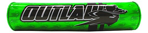 Outlaw Racing ORBP78GN Handlebar Cushion Crossbar Pad Green Motorcycle Dirtbike from Outlaw Racing Products