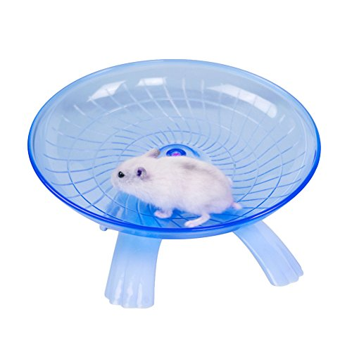 Zaote Hamster Wheel Silent Flying Saucer Exercise Wheel Toys For Hamster Rat Gerbils Mice Chinchilla Guinea Pig Squirrel Small Animals