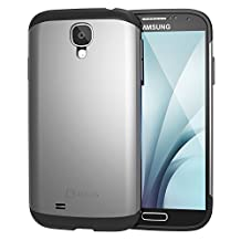 S4 Case, JETech Super Protective Samsung Galaxy S4 Case Slim Ultra Fit for Galaxy S IV Galaxy SIV i9500 (Silver) - 3001