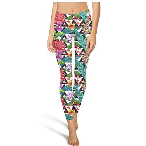 (YaSiaFamily Seamless Pattern with Thailand Flower Tropical Vector Women's Yoga Pants Motionleggings Leggins Workout Pants Dance)