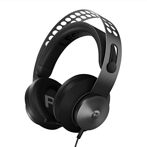 (Lenovo Legion H500 Pro 7.1 Surround Sound Gaming Headset, Noise-Cancelling Mic, Memory Foam & PU Leather Earcups, Stainless Steel Headband, PC, PS4, Xbox One, Nintendo Switch, GXD0T69864, Black)