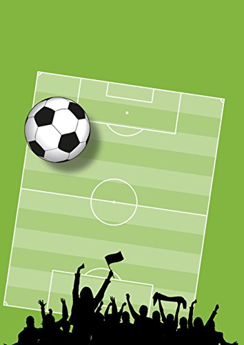 Laminated Poster: Football Background Cheers Sport Rush European Championship Playing Field Ball Green