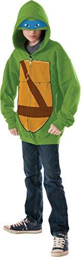 Teenage Mutant Ninja Turtles Leonardo Hoodie Costume, Large