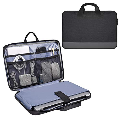 11.6-13 Inch Waterproof Laptop Bag Sleeve for Women Men Business Briefcase with Accessories Organizer for Acer R11 Chromebook, Lenovo Chromebook C330, Samsung HP ASUS Dell Chromebook Carry Case, Black