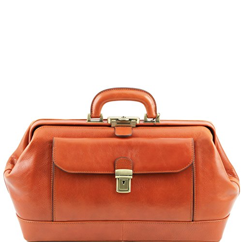 Tuscany Leather Bernini Exclusive leather doctor bag Honey by Tuscany Leather
