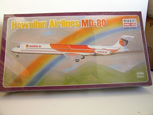 Minicraft Models---1/144 Scale Hawaiian Airlines MD-80--Plastic Model Kit