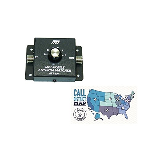 MFJ ~Mobile Antenna Matcher, 10m-80m and Ham Guides TM Pocket Reference Card - Cb Meter Match