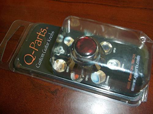 (Q-Parts UFO Knob - ACRYLIC RED PEARL ON CHROME, KCU-0755 )