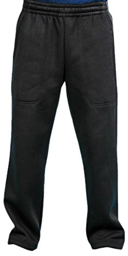 Woodland Supply Co. Men's Fleece Lined Active Sweatpants (Large, Black) - Lined Active Pant