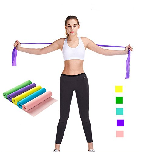 - ROMIRUS Exercise Band, Long Resistance Band Yoga Elastic Strap Latex Rope, Natural Latex Elastic Exercise Equipment for Physical Therapy, Pilates, Stretch, Yoga, Strength Training Workout