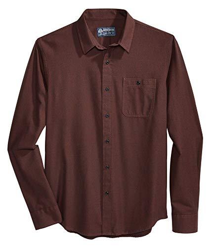 American Rag Solid Quartz Mens Button Down Shirt Brown XL from American Rag