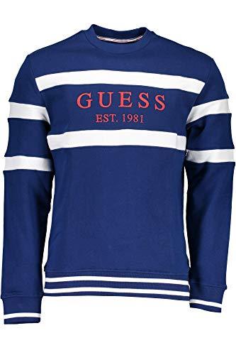 Blu Fermeture Éclair Sweat Homme shirt Guess Sans Jeans M91q23k81v0 F79t WcypqRa8