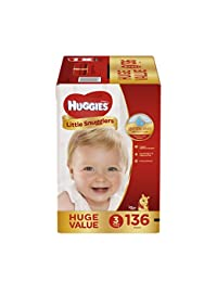 HUGGIES Little Snugglers Baby Diapers, Size 3, 136 Count BOBEBE Online Baby Store From New York to Miami and Los Angeles