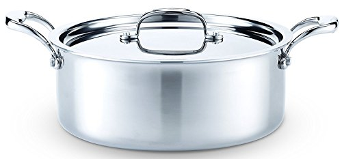 Hammer Stahl Stainless Steel 6 Quart Stock Pot with Cover by Hammer Stahl