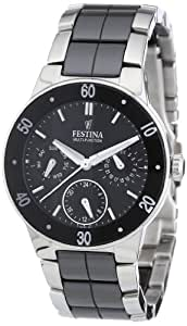 Festina F16530/2 - Reloj analógico de cuarzo para mujer con correa de acero inoxidable, color multicolor