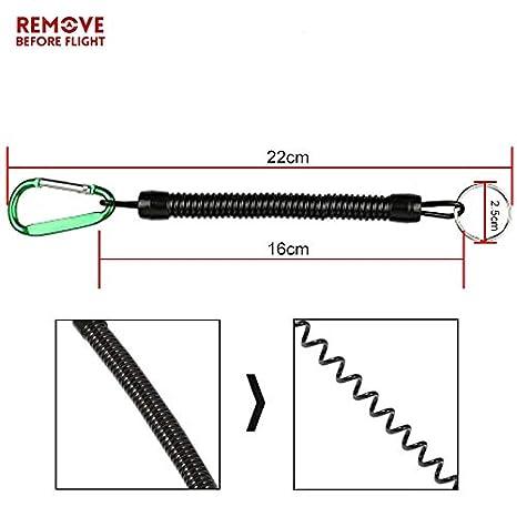 Amazon.com: Llavero con cadena en espiral de resorte ...