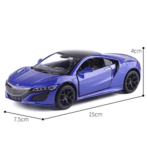 XINGPING-TOY 1:32 Simulation Honda Acura Honda Acura NSX NSX NSX Voiture De Sport en Alliage Modèle De Voiture Jouet Son Et Lumière Pull Back (Couleur : Bleu) | Exquis Art  ba930b