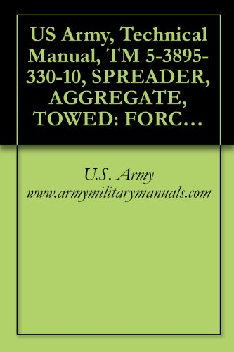 US Army, Technical Manual, TM 5-3895-330-10, SPREADER, AGGREGATE, TOWED: FORCE FEED, P TIRES; 8 FT WIDTH, (BURCH CORP., MODEL FF-8), (FSN 3895-130-3633), military manuals