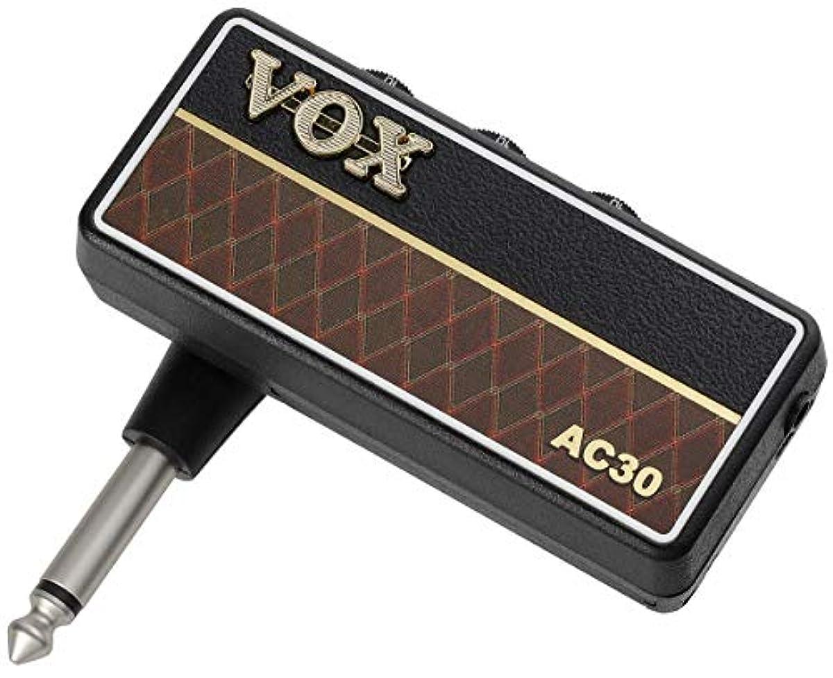 [해외] VOX 헤드폰 기타 앰프 AMPLUG2 AC30 케이블 불요 기타에 직접 플러그인 자택 연습으로 최적 전지 구동 이펙트 내장 정평(스테디셀러) 빈티지 사운드