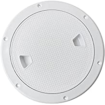 Dovewill Marine Boat RV 4'' 6'' 8'' Round Inspection Hatch Cover Screw Out Deck Plate