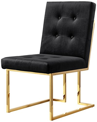 Meridian Furniture 714Black-C Pierre Velvet Dining Chair, Set of 2, Black from Meridian Furniture