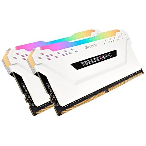 chollos oferta descuentos barato Corsair Vengeance RGB Pro Kit de Memoria Entusiasta 32 GB 4 x 8 GB DDR4 3000 MHz C15 XMP 2 0 Iluminación LED RGB Blanco