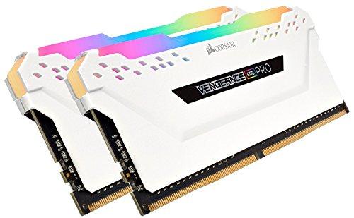 Corsair Ram - Corsair CMW32GX4M2C3200C16W Vengeance RGB PRO 32GB (2x16GB) DDR4 3200 (PC4-25600) C16 Desktop Memory White