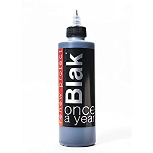 BLAK • Apply Once a Year — Restore Faded Black Carbon, Renew Plastic and Vinyl Color, Prevents Dry Rot on Tires – Weatherproof, UV Block, Dry-Seal – 8oz Kit
