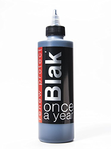 BLAK PERMANENT PROTECTANT ? Restore Faded Black, Renew Plastic and Vinyl Color, Prevents Dry Rot on Tires ? Weatherproof, UV Block, Dry-Seal ? 8oz Kit