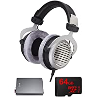 BeyerDynamic DT 990 Premium Headphones 250 OHM with Bundle Includes, FiiO E12 Mont Blanc Portable Headphone Amplifier & Lexar 64GB micro SD High-Performance Memory Card