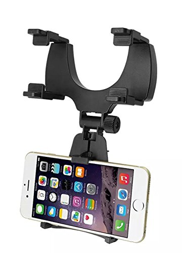 Agile-Shop Universal Car Rearview Mirror Mount Holder Stand Cradle for Mobile GPS Cell Phone/PDA / MP3 / MP4 Devices - Black