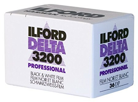Ilford 1887710 DELTA 3200 Professional, Black and White Print Film, 135 (35 mm), ISO 3200, 36 Exposures 2-Pack