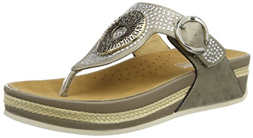 Rieker V1460 - Chanclas Mujer Beige (Clay)
