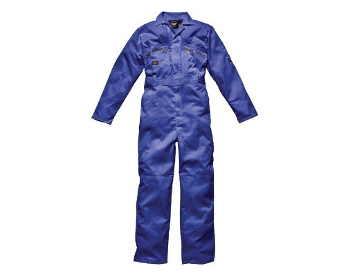 Dickies Redhawk Zip Front Coverall Tall/Mens Workwear (36W x Long) (Red)