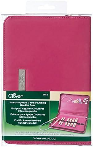 Clover – Agujas de Tejer Circulares Intercambiables Case-Pink: Amazon.es: Hogar