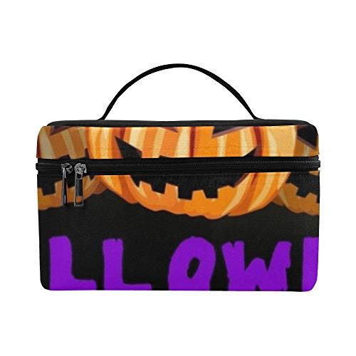 Halloween Party Flyer Pumpkins Lunch Box Tote Bag Lunch Holder Insulated Lunch Cooler Bag For Women/men/picnic/boating/beach/fishing/school/work -