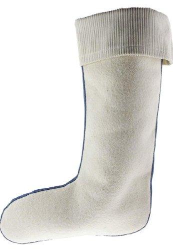 coste velluto Bianco in Bianco professionale con in lana risvolto per gomma Stivali in Inserto a d'agnello CfOPBw