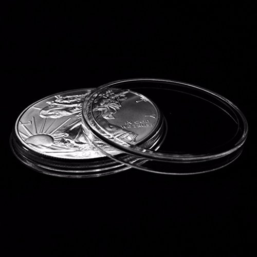 50 Guardhouse 40mm Airtight Coin Capsules for American Silver Eagle Liberty Coin ()