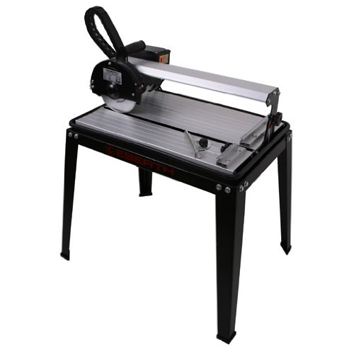 EBERTH 420 mm Coupe carrelage électrique avec Laser (Pivotant progressivement jusqu'à 45°, 25 mm Profondeur de coupe, Disque en diamant)