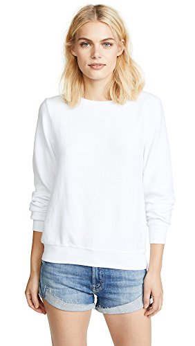 Wildfox Women's Baggy Beach Jumper Sweatshirt, White, Medium