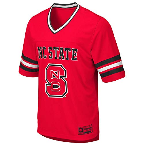 (Colosseum Mens NC State Wolfpack Football Jersey - L )
